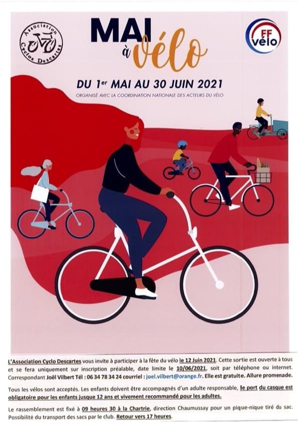 Mai à Vélo à Descartes