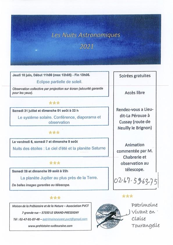 Les nuits astronomiques 2021